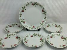 Chodziez Porcelain Moss Rose Cake & Tea Plate Serving Set - Poland Excellent