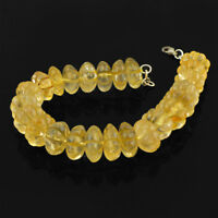 FANTASTIC TOP DEMANDED 466.00 CTS NATURAL YELLOW CITRINE CARVED BEADS BRACELET
