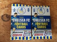 2 x NEW SEALED UNOPENED PACK - CHELSEA - Futera - Football cards 1999