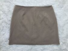 Alyn Paige Sz 13 14 Juniors Tan Beige Mini Skirt Straight Pencil Back Zip Career