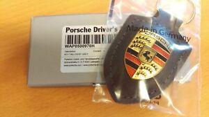 Portachiavi Porsche con stemma Porsche - pelle grigia WAP0500970H