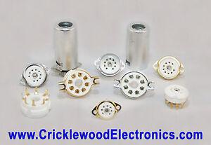 Valve Vacuum Tube Base Socket B9A 9 Pin, Octal 8 Pin, B7G 7 Pin Gold or Nickel