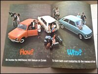 1968 1969 Reliant Rebel 700 Original Vintage Car Sales Brochure Folder