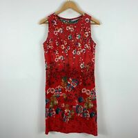 Orientique Womens Dress 10 Multicoloured Floral Sleeveless Round Neck