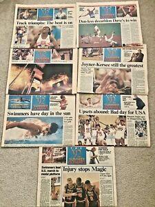 1992 SUMMER OLYMPICS (BARCELONA)- 7 USA TODAY BONUS SECTIONS- DREAM TEAM/ SWIM/