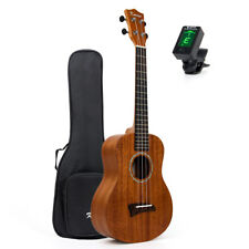 Ukulélé Ténor 66cm Ukulélé Hawaii guitare solide ACAJOU HAUT W/HOUSSE ACCORDEUR