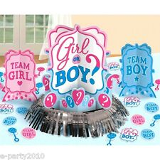 BABY SHOWER Girl or Boy TABLE DECORATING KIT (23pc) ~ Gender Reveal Supplies