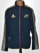 MUNSTER RUGBY TEAM 2011/2012 TRAINING JACKET JERSEY ADIDAS SIZE L ADULT