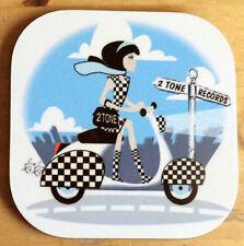 2 Tone Coaster, Scooter Coaster, Ska Reggae Skinhead Coaster, Scooter Girl