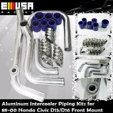 Intercooler Piping+Silicones+Clamps for 88-00 Civic D15/D16 D Series EX/Si 1.6L