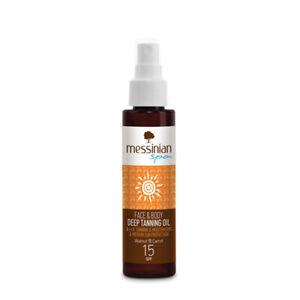 Olio abbronzante viso e corpo SPF 15 100 ml. Messinian Spa