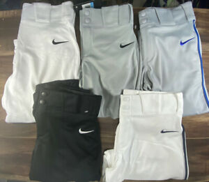 Nike Vapor AQ7979-109 Pro Boys Baseball Pant Knickers Piped High US Youth Sizes