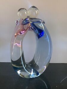 "Steve Fenstermacher 1999 Youghiogheny 10"" Art Glass Sculpture"