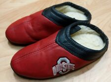 Ohio State Leather Slippers Size unisex 7 GUC was on display never worn
