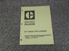 Cat Caterpillar 977 Track Type Crawler Loader Tractor Owner Operator Manual
