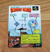 Donkey Kong Country SNES Super Famicom Promo Card Vintage Japanese Nintendo 1994