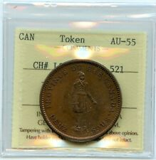 Breton 521, 1837 Bank of Montreal, One Penny Token CH LC-9D2, ICCS AU-55