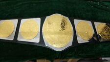 NWA Georgia Wrestling championship belt Adult 4mm plates