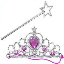 FAIRY PRINCESS TIARA & WAND SET FANCY DRESS UP GIRLS PARTY BAG TOYS 302-020