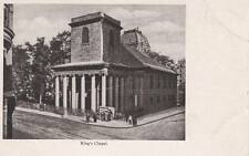 Antique Postcard c1905-07 King's Chapel Boston, Ma Mass. Unused 14156