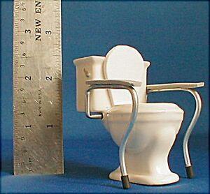 Doll miniature handcrafted Medical Toilet handicap geriatrics 1/12th scale