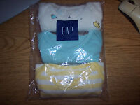 BABY GAP Sz 0-3-6-12 M 3-PACK Boys Girls SS BODYSUITS FIRST FAVORITES sealed NEW
