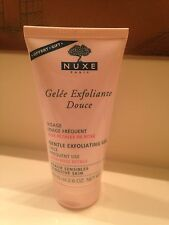 NUXE PARIS GENTLE EXFOLIATING GEL WITH ROSE PETALS FULL SIZE 2.6 OZ; NEW!!