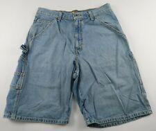 Levis Silver Tab Mens Carpenter Medium Wash Denim Jean Shorts Tag 31 Actual 32
