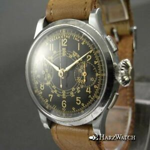 Rare Vintage Chronograph Landeron 47 Monopulse Gilt Dial watch