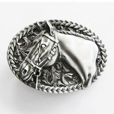 Horse Head Rodeo Cowboy Western Metal Belt Buckle