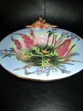 "Rare Large 10"" Blue Sky Clayworks Bowl The Robins Song Heather Goldminc Birds 3D"