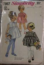 Vintage Toddler Dress Pinafore Jumper Doll Coat Hat Pattern You Choose