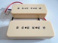New set PU Soapbar P90 - crème - pour guitare Les Paul, SG