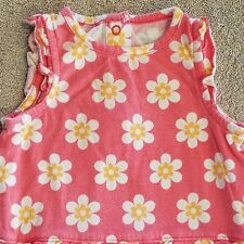 CLOSEOUT! BABY CARTER'S 6 MONTH PINK DAISY ROMPER OUTFIT