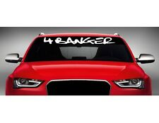 "40"" 4 Banger Import JDM Street Racing Car Decal Sticker Windshield Banner COLORS"