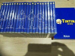 TINTIN en DVD COLLECTION COMPLÈTE DES 21 TITRES +  LE COFFRET AVEC 21 FASCICULES