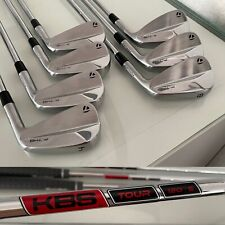 TaylorMade P7MB Irons 4-PW KBS 120 Stiff Shafts RRP £999