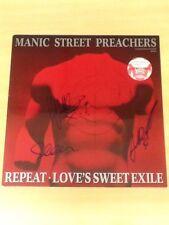 "SIGNED-MANIC STREET PREACHERS-12"" SINGLE-REPEAT-4 TRACK GFLD LTD EDIT-NR M/NR M"
