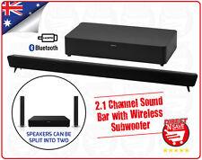Soundbar 2.1 Channel with Bluetooth HDMI 2 x 15 Watt RMS Detachable w/ SUBWOOFER
