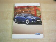 FORD FOCUS  OWNERS MANUAL -OWNERS HANDBOOK 2013-2016 COVERS AUDIO cd REFL4