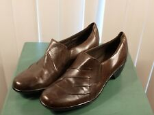 Clarks brown leather 10M  loafers shoes casual