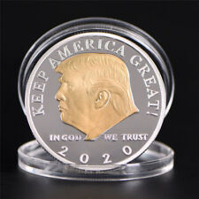 US President Donald Trump 2020 Silver&Gold Plated Challenge Coin Non-currency QP