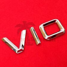 V10 Emblem Signs Chrome Lettering Car Sticker Bonnet Fender Logo 3d