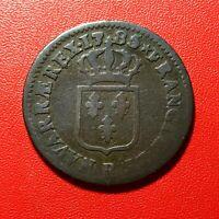 #1610 - RARE - Louis XVI Sol 1785 R Orléans - FACTURE