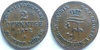 Deutschland Mecklenburg-Schwerin 2 Pfennige 1872B Friedrich Franz II