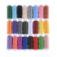 24 Spools Mixed Colors Polyester Sewing Supply Quilting Threads Set All Purpose|