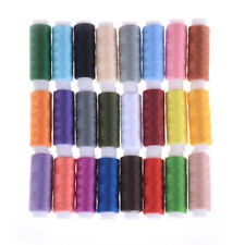 24 Spools Mixed Colors Polyester Sewing Supply Quilt Threads Set All Purpose  JB