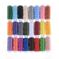 24 Spools Mixed Colors Polyester Sewing Supply Quilting Threads Set All PurposTS