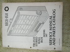 rockola phonette wallbox jukebox machine service manual  model 507