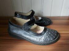 Chaussures plates babies ballerines cuir noir TAURUS BIO CONFORT 38